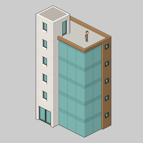 Isometric-Pixel-Art-Building-PS-tutorial