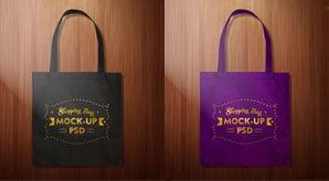Simple-plain-black-Shpping-bag-Mockup-PSD-2
