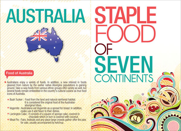14 staple food of 7 continents leaflet