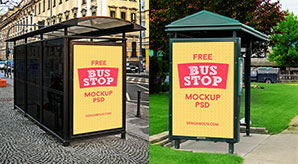 3-Free-HQ-Outdoor-Advertising-Bus-Stop-Mockup-PSD-Files