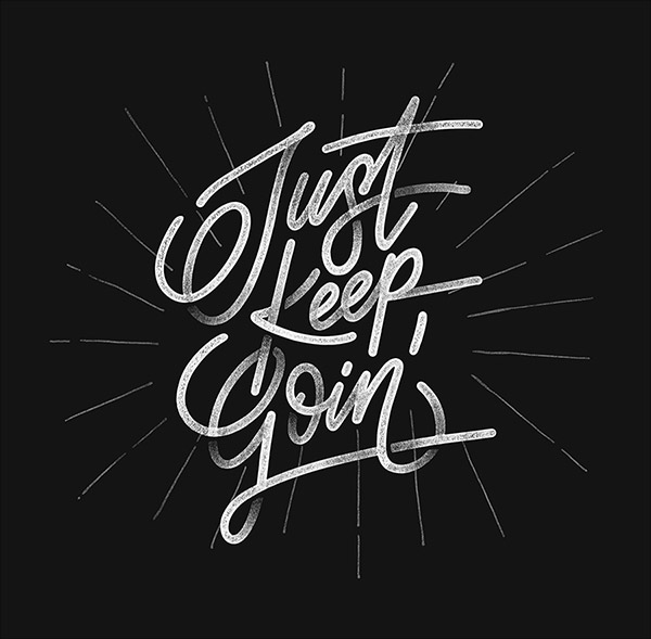 Keep Going Typography Quote Design