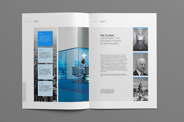 Creative Corporate Brochure Template With Two Color Variation