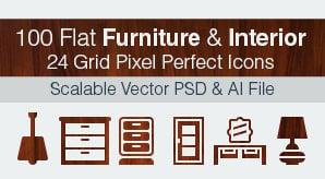 Flat-Furniture-&-Interior-Pixel-Perfect-Icons-Ai+PSD-5