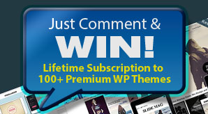Giveaway-Lifetime-Subscription-to-100+-Premium-Responsive-WordPress-Themes