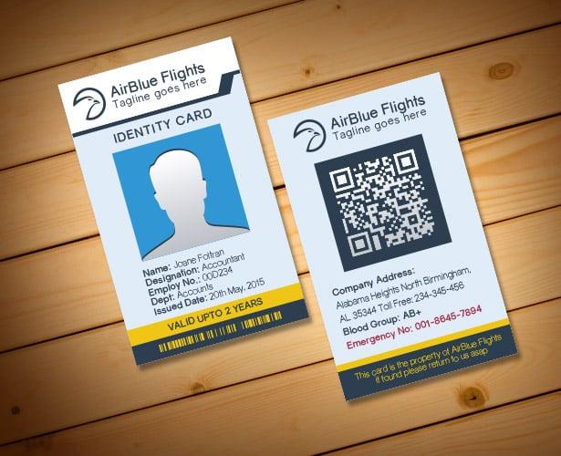2 Free Company Employee Identity Card Design Templates