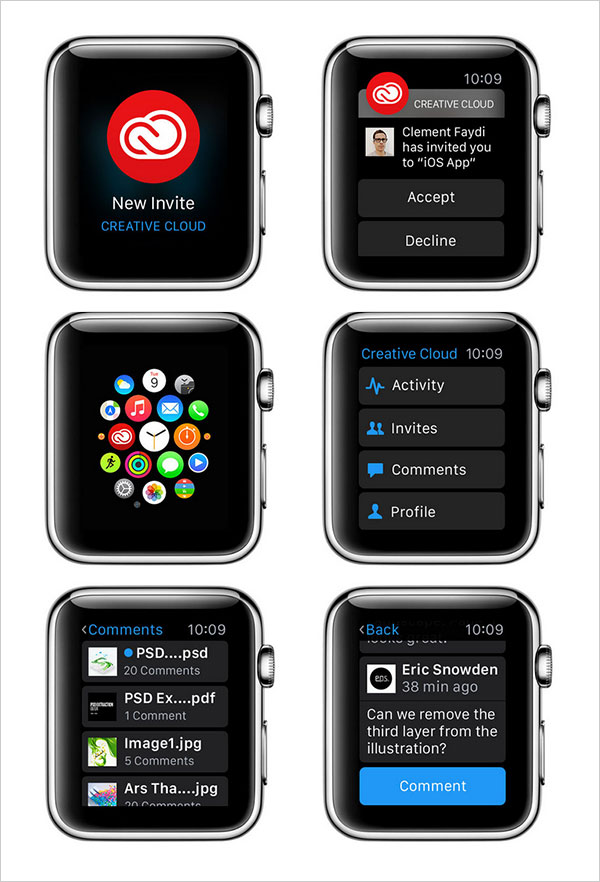 Adobe-Creative-Cloud-for-Apple-Watch