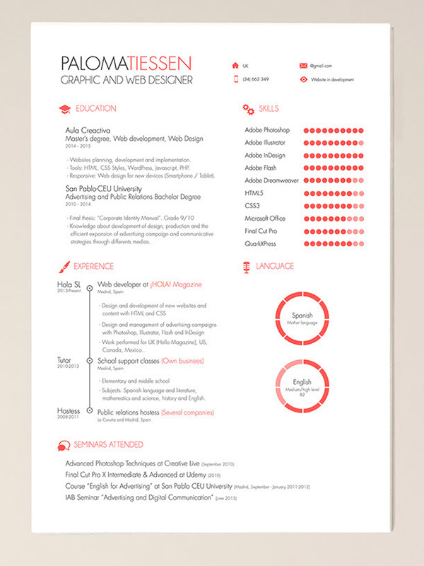 Modern Cv Resume Template For Ai