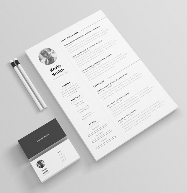 free clean minimal resume template - Creative Resume Template Download Free