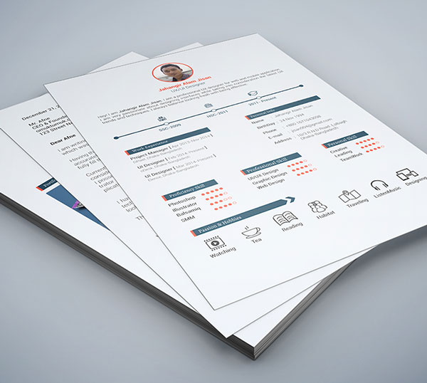 Beautiful Resume Templates clean business resume Free Resume Psd Template