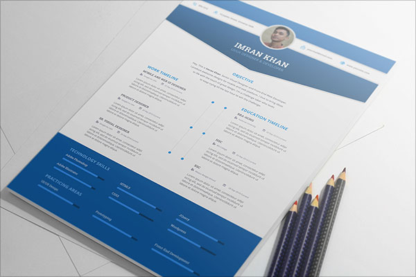 50  beautiful free resume  cv  templates in ai  indesign  u0026 psd formats
