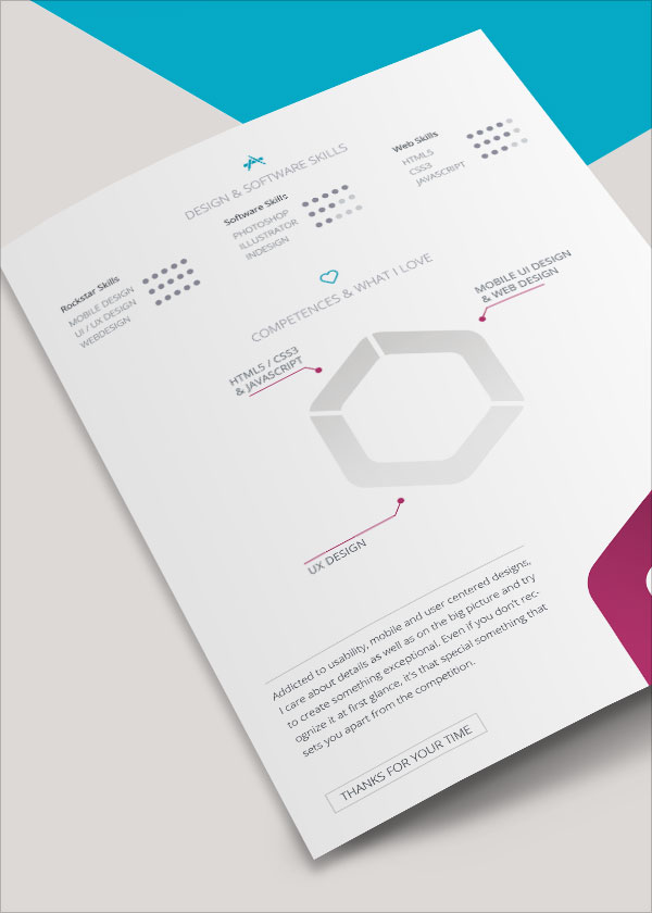 FREE Resume Template For InDesign (Vita CV)