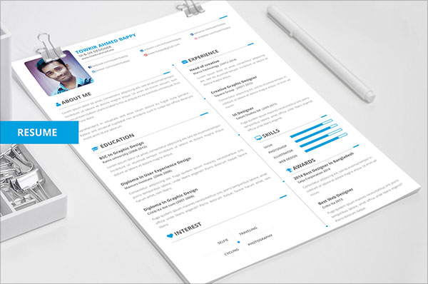 free creative resume cv template download - Resume Free Download