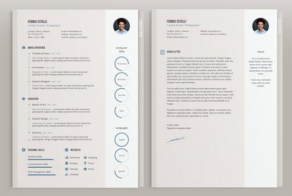 Resume Template Adobe Illustrator 9