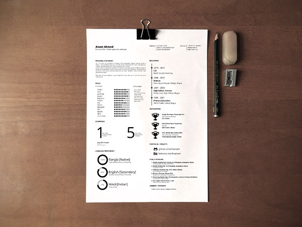 Free-One-page-Printable-Resume