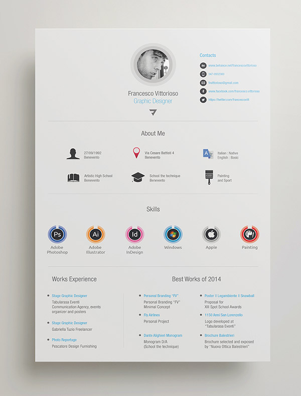 Resume Template Adobe Illustrator 20