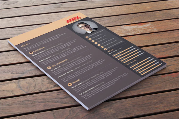 Beautiful Free Resume Cv Templates In Ai Indesign  Psd Formats