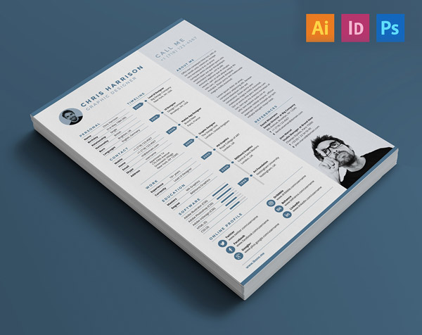 Free-Resume-Indesign-Illustrator-PSD-Template