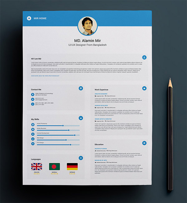 Free-Resume-with-Business-Card