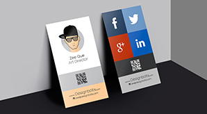 Free-Vertical-Business-Card-Design-Template-&-Mock-up-PSD-File-For-Graphic-Designers