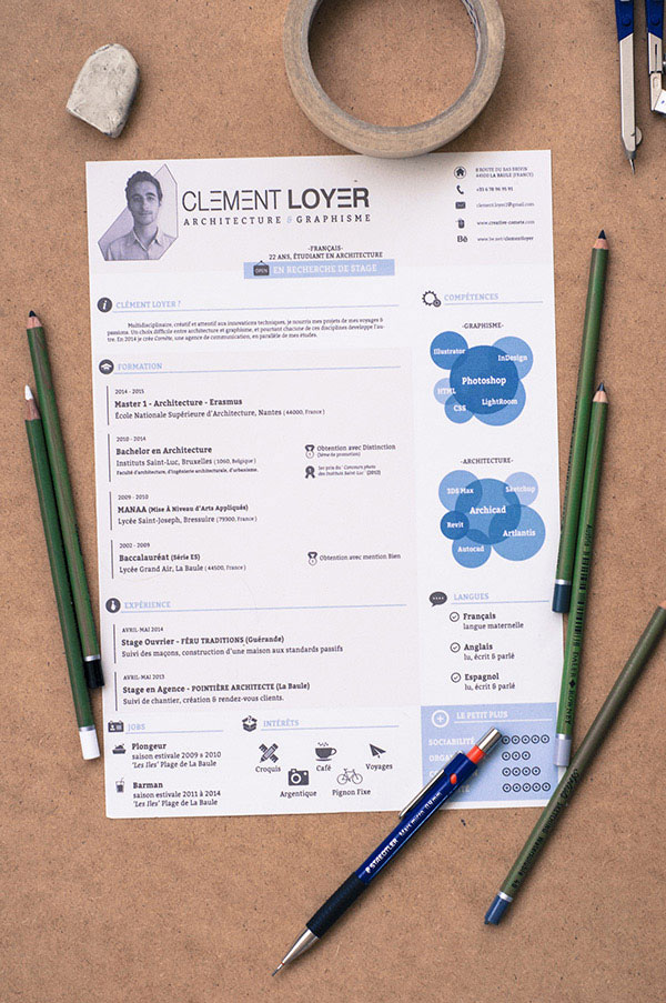 Sehr 50+ Beautiful Free Resume (CV) Templates in Ai, Indesign & PSD Formats XM75