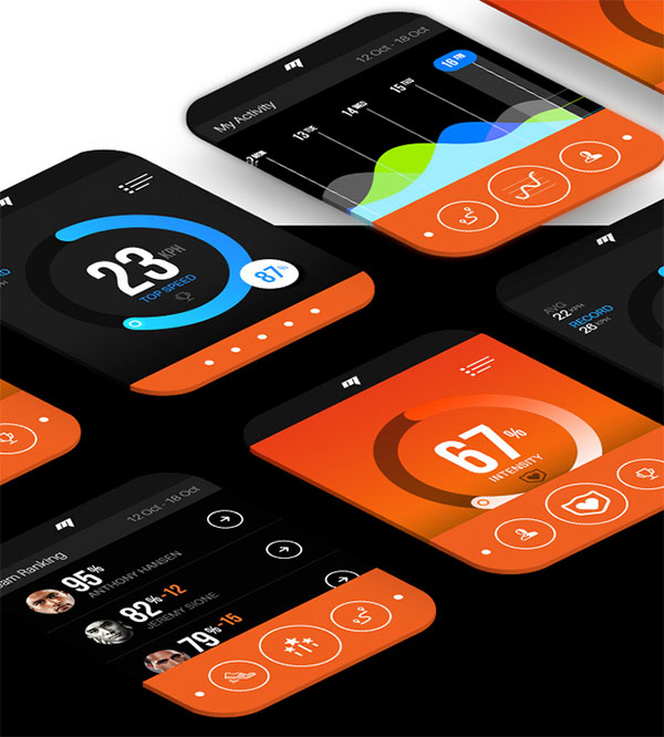 App Design Ideas creative level mobile app design inspiration Motion Apple Watch App Design For Sports Performance