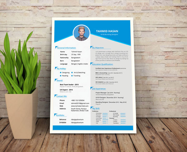Free Creative Resume Templates Download | 50 Beautiful Free Resume Cv Templates In Ai Indesign Psd Formats