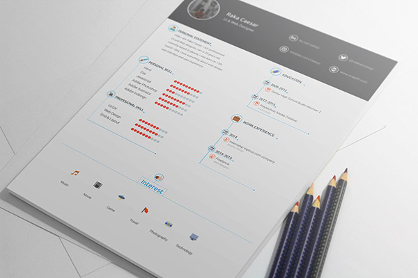 resume cv template free download
