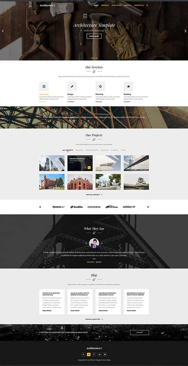ArchitectureX-Free-Psd-Web-Template