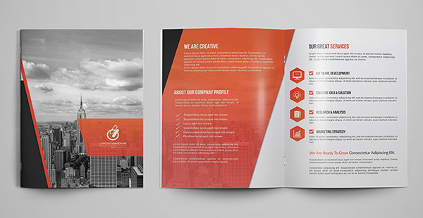 Sample Bi Fold Brochure. Targetcore / Brochure English / France 8 ...