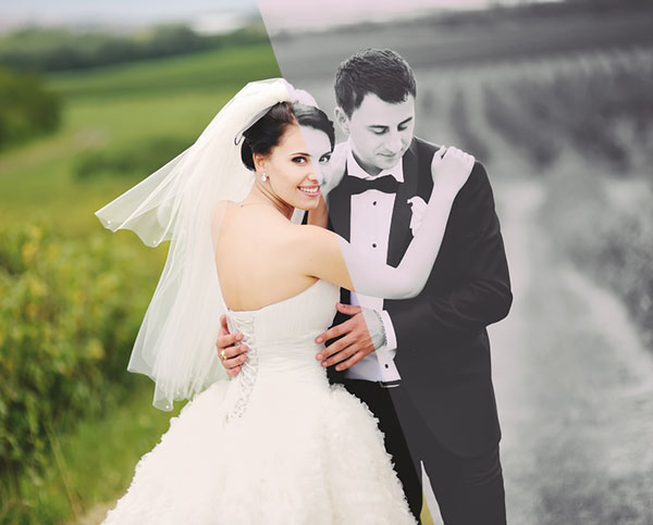 Free-Black-&-White-Photoshop-Action-For-Wedding-Photography