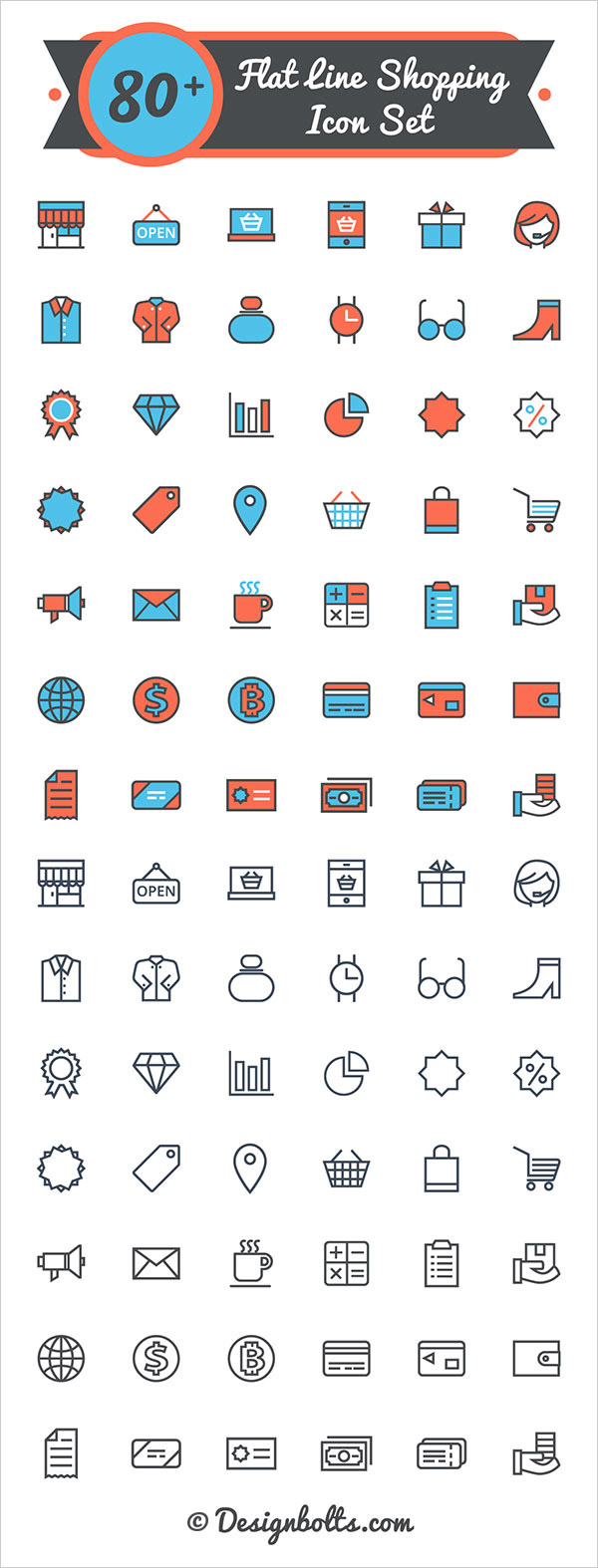 Free-flat-line-shopping-icon-set-2