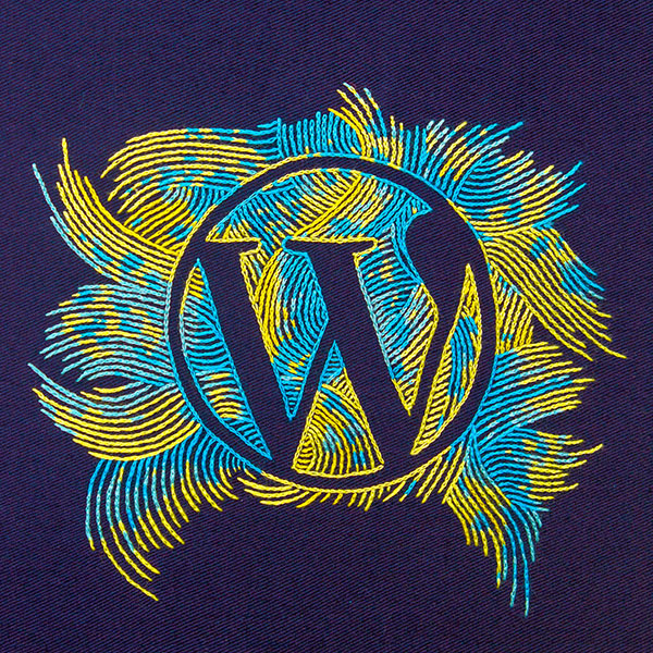 Hand-Embroidered-Wordpress-Logo