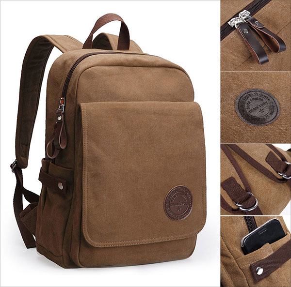 Vintage-Canvas-Laptop-Backpack