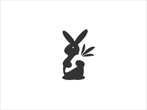 rabbit_negative-space-creative-logo