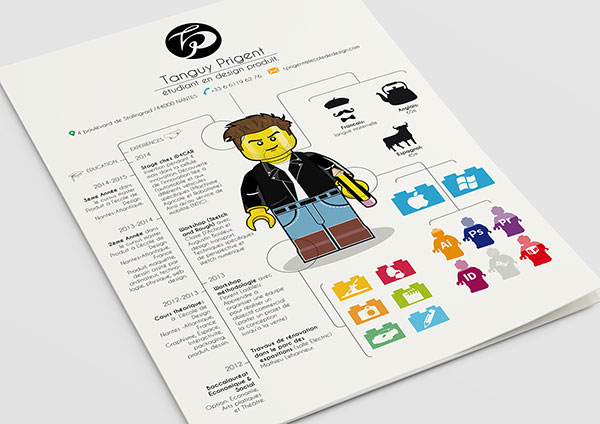 ... Creative LEGO Inspired Resume Design For Inspiration 2 ...  Resume Design Inspiration