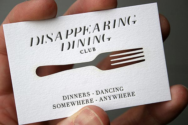 Disappearing-Dining-Club-Laser-cut-Business-Card