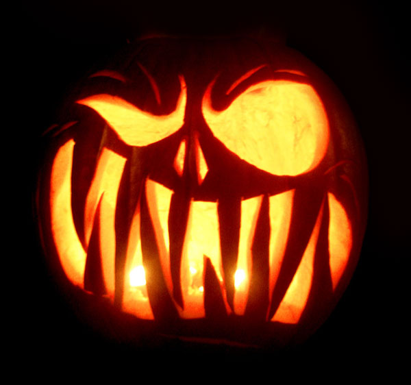 28 best cool scary halloween pumpkin carving ideas for Evil face pumpkin template