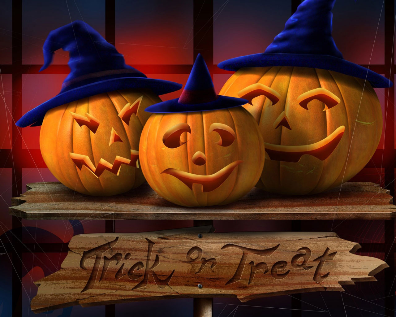 Halloween Pumpkin Trick Or Treat Wallpaper 2015