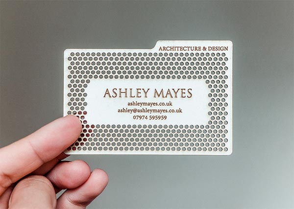 Metal-Lasercut-Business-card-for-architect