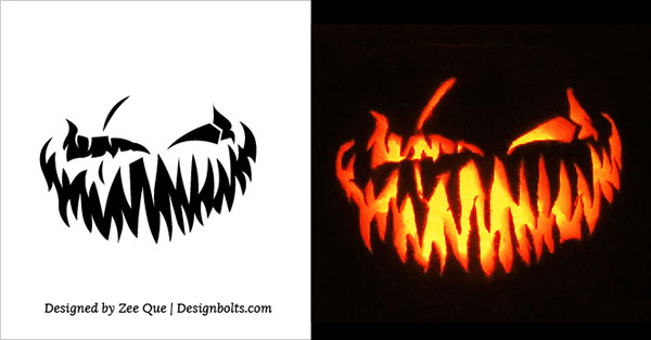 Scary Pumpkin Carving Patterns 2015