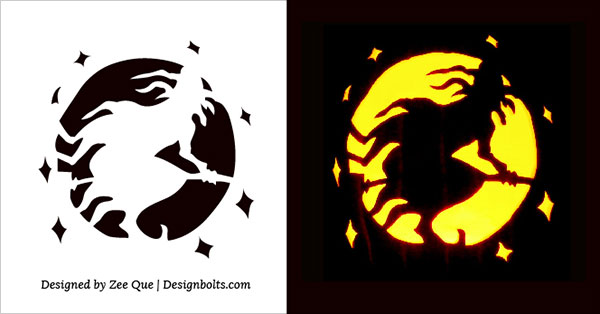 Wicked Witch Free Pumpkin Carving Stencil 2015