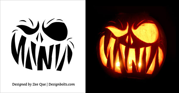 Pin scary printable pumpkin stencils on pinterest Architecture pumpkin stencils