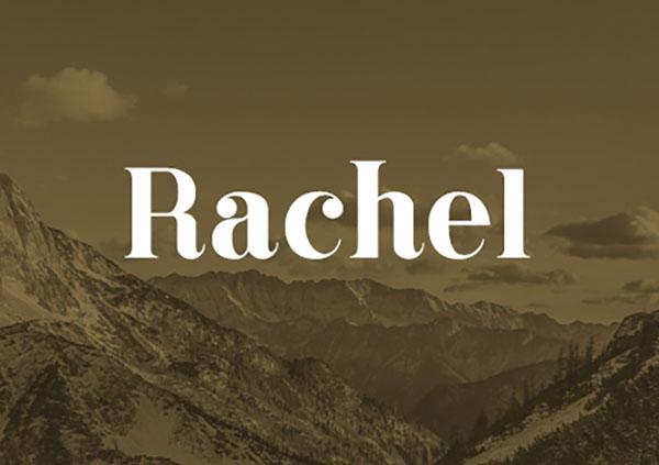 Rachel-Typeface-Free-Font