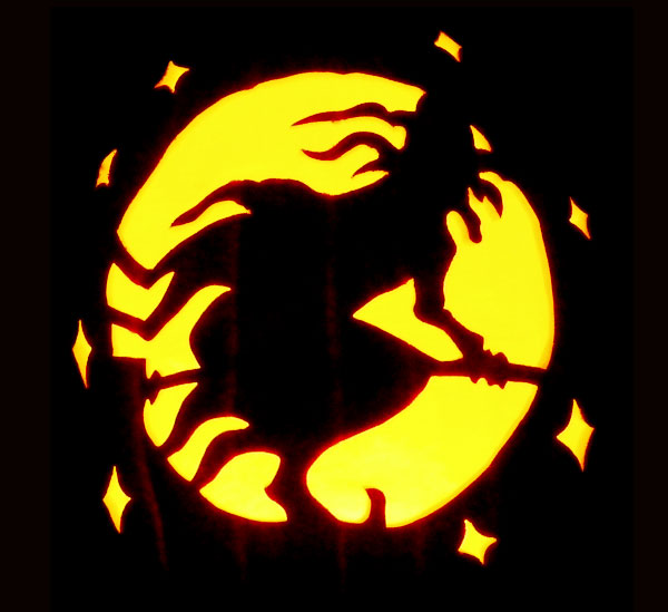 28 best cool scary halloween pumpkin carving ideas for Witch carving pattern for pumpkins