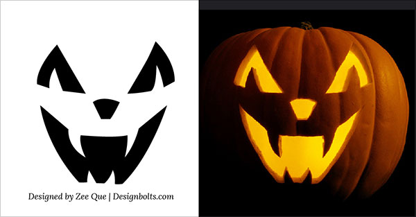 3 easy pumpkin carving stencils patterns ideas 2015 - Free Scary Halloween Pumpkin Carving Patterns