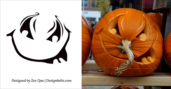 Free printable scary halloween pumpkin carving stencils