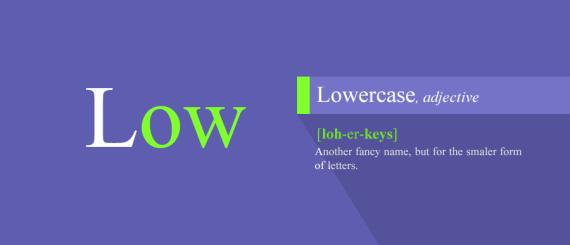 6. Lowercase