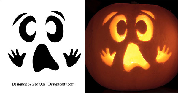 15 Free Printable Scary Halloween Pumpkin Carving Stencils ...