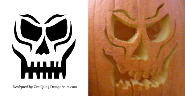 9-Skull-Scary-Pumpkin-Carving-Stencils-patterns-ideas-2015