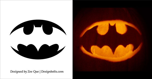 Easy yet simple halloween pumpkin carving patterns stencils